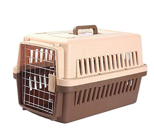 Plus Nao(プラスナオ) ペット キャリーケース クレート 犬 猫 ペット用品 ハードタイプ キャリーボックス 旅行 飛行機 電車 お出掛け ペッ - ブラウン