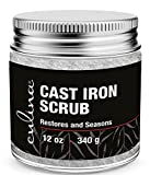 Culina Cast Iron Cleaning & Restoring Scrub | Removes Rust Without Scratching & Care Before Cleaning, Washing & Seasoning | 100% Natural | for Cast Iron Skillets, Pans & Cookware