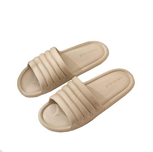 KIKIGO Zapatillas Piscina Mujer,Zapatillas de casa de Verano, Sandalias de baño Interior Antideslizantes.-Caqui_EU 42