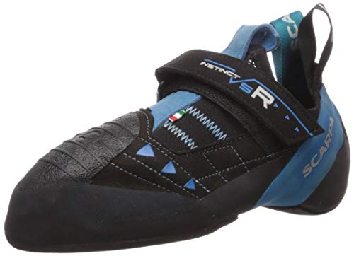 SCARPA Instinct VSR Climbing Shoe, Black/Azure, 7.5 Women/6.5 Men
