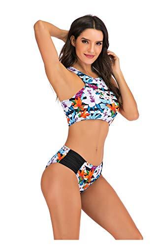 Hzikk Sexy Bikini Plus Size Bademode Frauen Mirco Bikini Zwei Badeanzug Badeanzug Strand Sport-Set,Multi,XXL