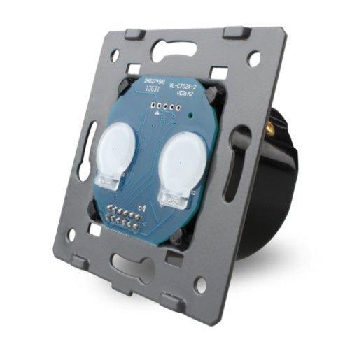 LIVOLO Glas Touch Lichtschalter Funkschalter Steckdosen Wechselschalter uvm in grau (Modul: Serienschalter VL-C702)