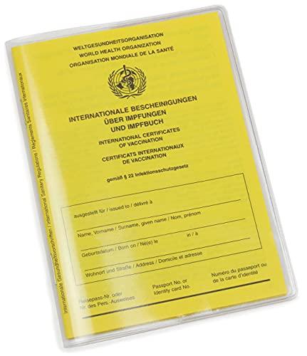 Impfpass Hülle - glasklare Schutzhülle für aktuellen Impfausweis, Made in Germany, reißfest und passgenau, transparente Impfpasshülle, Maße 10 x 13,7 cm