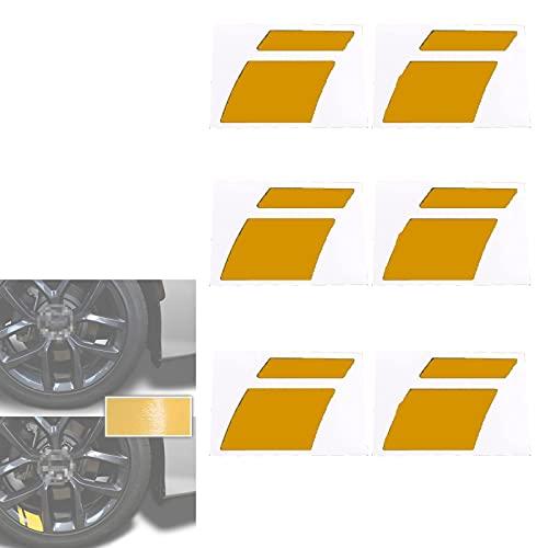 Calcomanías para calcomanías para Ruedas de automóviles - Prevención de Rayas de Vinilo Reflectantes para Autos Calcomanías para Llantas de Ruedas Superposición de Marcas Ruedas de 18'-21'