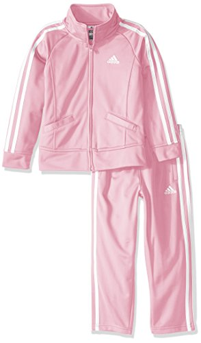 adidas girls Event Tricot Jacket Set pink 4