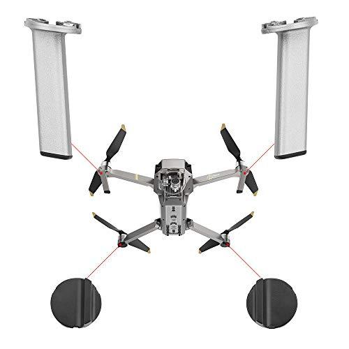 Webla Repuestos para tren de aterrizaje delantero izquierdo y derecho y brazo trasero para DJI Mavic Pro Platinum, plateado