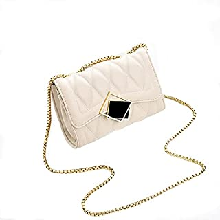 Women Classic Black PU Leather Purse Clutch Small Crossbody Shoulder Bag with Chain Strap Handbags Leather