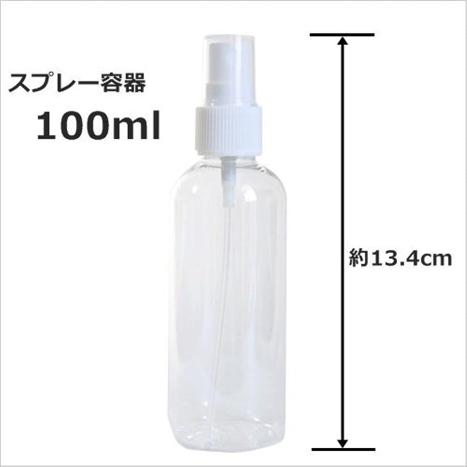 行進教養がある添付スプレーボトル 100ml プラスチック容器 happy fountain