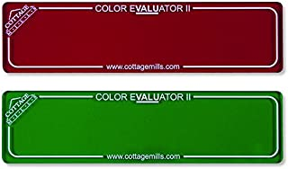 Color Evaluator II – Red & Green Viewing Filter Set – Color Value Finder/Gray Scale Contrast Evaluator. Get The Right Color Mix for Your Project! (Red Green)