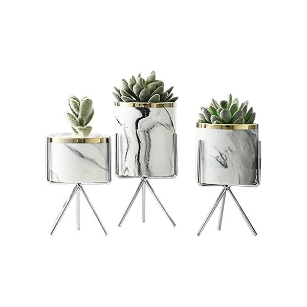 TOOGOO-Nordic-Motif-Marbre-Vase-Art-Cramique-Fer-Art-Rose-Or-Argent-De-Table-Plante-Verte-Pot-De-Fleur-Home-Office-Vases-Dcoratif