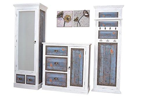 moebel direkt online Garderobenserie aus Massivholz Garderobenschrank, mit Spiegeltür, Türanschlag wechselbar