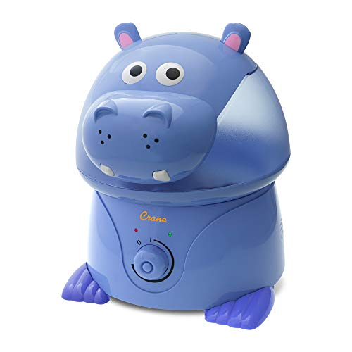 Crane EE-8245 Ultraschall Luftbefeuchter für das Kinderzimmer   Violet das Hippo, 45 W, 230 V, blau, 25 x 23,5 x 31,5 cm