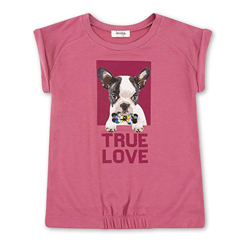 Speechless Big Girls Screen Tee with Elastic Hem, Frenchie Pink, L