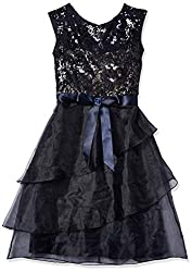 Adrianna Papell Women's Short Sequin Lace and Organze Party Dress