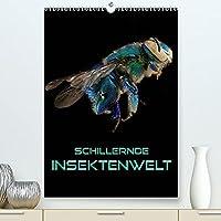 Schillernde Insektenwelt (Premium, hochwertiger DIN A2 Wandkalender 2022, Kunstdruck in Hochglanz): Faszinierende Nahaufnahmen verschiedener Insekten im Kontrast zu schwarzem Hintergrund (Monatskalender, 14 Seiten )