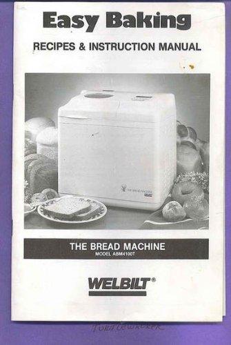 Fantastic Prices! Welbilt ABM4100T Bread Manual & Recipes Booklet