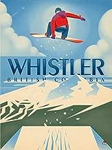American Vinyl Vintage Art Whistler British Columbia Sticker (bc Canada Canadian ski Snowboard)