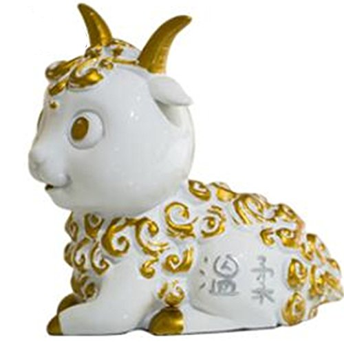 Cadeaux de la Saint-Valentin créative animal résine mobilier bijoux home office d'ornements, des moutons, 9 * 16 * 16CM / 600G