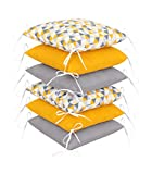 Amilian Bettumrandung Babybett Kinder weich Nestchen Kantenschutz Baby Bettnestchen Kopfumrandung 210 cm für Laufstall Hausbett Kinder Bettausstattung Kissen Kinderzimmer Polster (Design63)