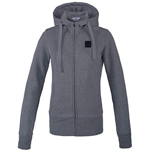 Kingsland Sweatjacke KLebony für Damen, aus Bio-Baumwolle, l.Grey - Size L