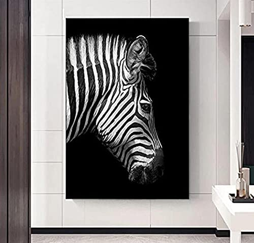 Animal Cebra Blanco Y Negro Decoraciones Arte Contemporáneo De La Pared De Las Obras De Arte para La Sala De Estar La Imagen para La Decoración Moderna del Hogar.