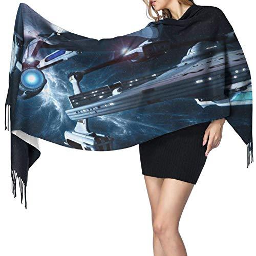 Écharpe d'hiver tricot épais femmes Multifonctions Star Trek Foulards carrés enveloppant cheveux nuit Sleeping Head Bandanna