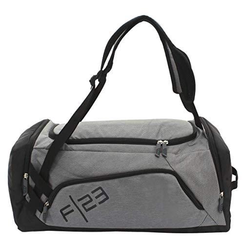 F23 Sport- und Reisetasche - Multifunktionstasche inkl. Trinkflasche Teamplayer-Serie in grau - Schuhfach, 37,5L Volumen