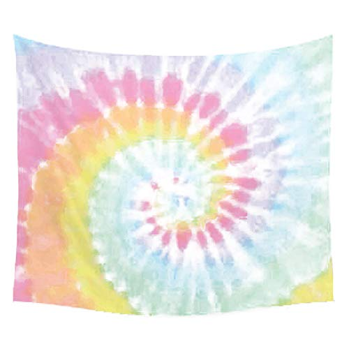 steamship n Wall Tapestry - Pastel Tie Dye Tapestry Wall Hanging Wall Art Home Decor for Bedroom,Living Room,Dorm Decor 51x60 Inches