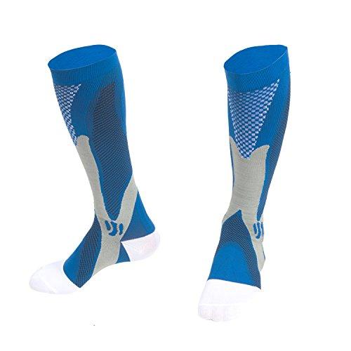 Sports Kompression Socken für Männer und Frauen, 20-30 mmHg Graduierte Strümpfe Fit für Laufen, Krankenpflege, Flug Reisen, Mutterschaft Schwangerschaft, Boost Ausdauer, Zirkulation und Recovery
