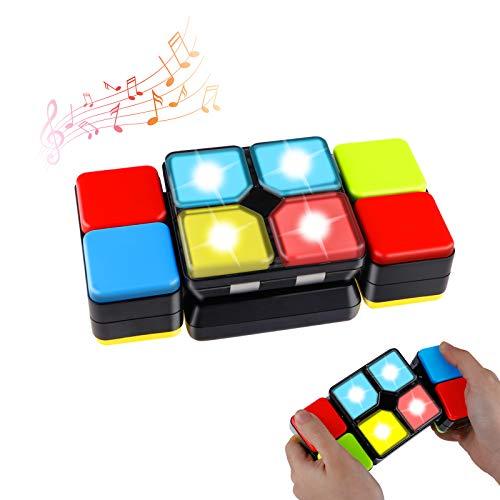 Seamuing Magic Cube Electronic Music Cube Mágicos Juegos Electrónicos Variedad Carrera Educativa Rompecabezas Juegos Mentales Juguete de Novedad para Niños,Niñas y Jugadores