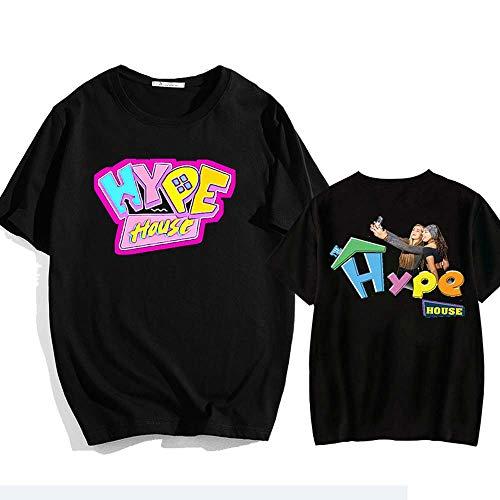 LYJNBB T-Shirts LA Maison Hype à Manches Courtes pour Femme Hommes Video Fan Apparel, Sweat-Shirt T, Le ami Hauts Vêtements,Noir,M