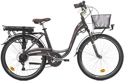 26 Zoll Damen Elektro Fahrrad Cinzia Sfera, Farbe:braun