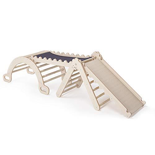 MAMOI Triangle Gym Dreieck v.2 für Kinder Modernes | Klettergerüst Indoor minimalistisches Design | Kletterdreieck für Kleinkinder aus Holz | 100{ebd0b7671fe5bcb283010099bfd617fff6602af2cf6ba4b3cb64227a535df01b} ECO | Made in EU (Triangle Gym)