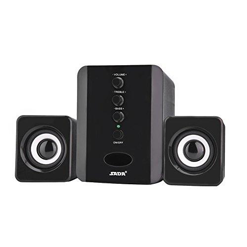 Nuobi Altavoz, Altavoz portátil Combinado para Reproductor de música para Altavoz para PC portátil para teléfono(Black)