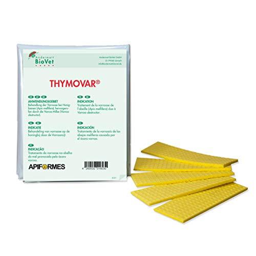 APIFORMES THYMOVAR 2 x 5 Plättchen für Bienen gegen Varroa | Varroabehandlung | BioVet | Thymol | Imkereibedarf | Imkerei | Bienenzucht