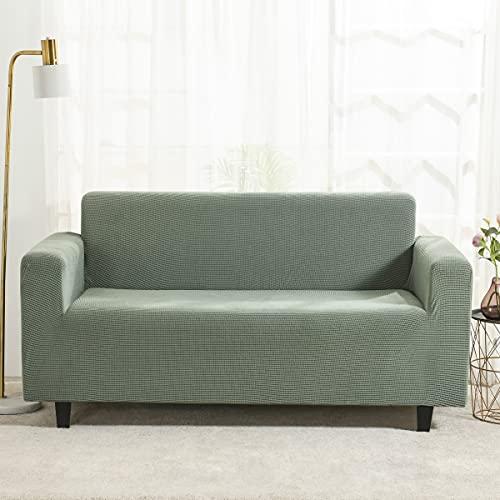 Stafeny Funda de sofá de alta elasticidad de forro polar sólido impreso fundas de sofá para mascotas Protector de muebles elástico antideslizante Sofá para sala de estar