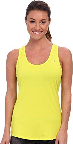 ASICS Emma - Camiseta con Espalda Cruzada para Mujer, Mujer, WR1645, Verde Lima, XS