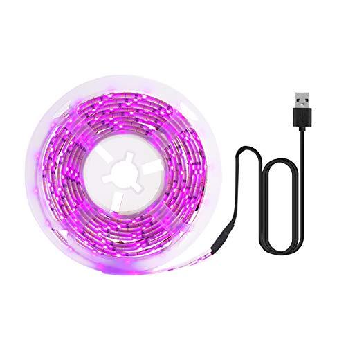 LED Grow Light Full Spectrum USB Grow Light Strip 5M 2835 SMD DC 5V LED Phyto Tape voor zaadplanten bloemen broeikassen indoor groente bloemenzaden Fitolampy
