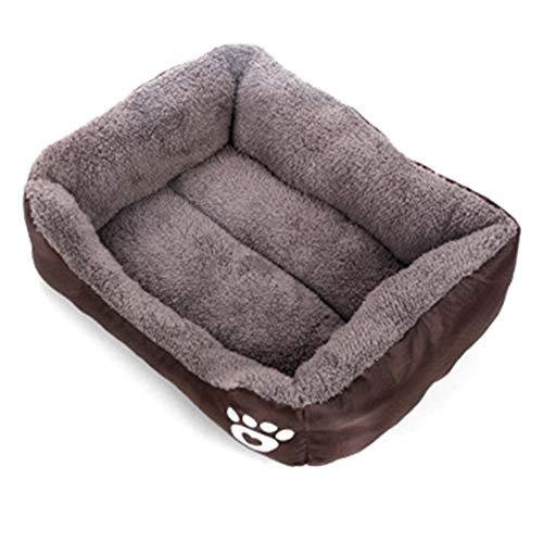 Edhua Cama Ultra Suave para Perros Cachorros,Perrera de Invierno para Perros Cojines para Dormir para Perros pequeños y medianos (Lavables)