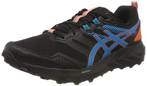 Asics Gel-Sonoma 6, Trail Running Shoe Hombre, Black/Digital Aqua, 44 EU