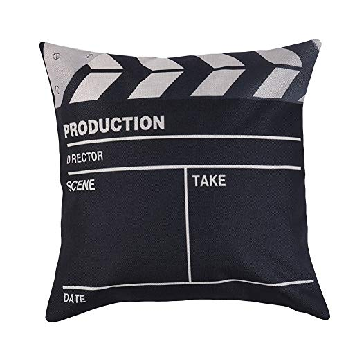 Originaltree Fashion Cinema Pattern Letters Cushion Cover Home Sofa Decor Throw Pillow Case A