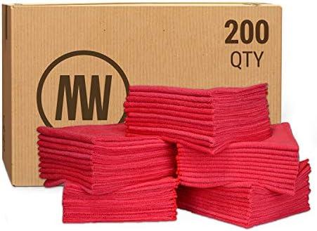 Bulk 16 x 16 Economy All Purpose Microfiber Towels Wholesale Case Quantity 200 Count Large No product image