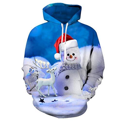 Cuteelf Kinderbekleidung Baby Weihnachten Kapuzenpullover Sweatshirt 3D Schneemann Druck Hemd Anzug Weihnachten Schneemann Kapuzenpullover Größe Kinderbekleidung Baseballuniform