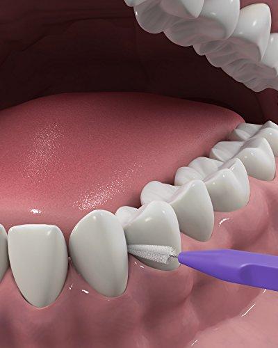 DenTek Slim Brush Interdental Cleaners | Brushes Between Teeth | Extra Tight Teeth | Mouthwash Blast Flavor | 32 Count (packaging may vary)