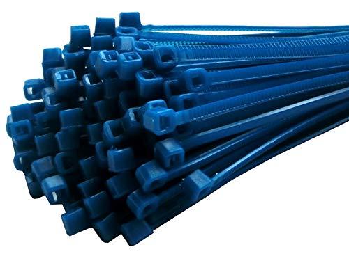 Fix&Easy Kabelbinder Set blau 2,5x200mm 50 Stück für Computer Auto Zaun PC