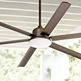 72' Casa Arcade Modern Indoor Outdoor Ceiling Fan with Light LED Dimmable Remote Control Oil Rubbed Bronze Damp Rated for Patio Porch - Casa Vieja