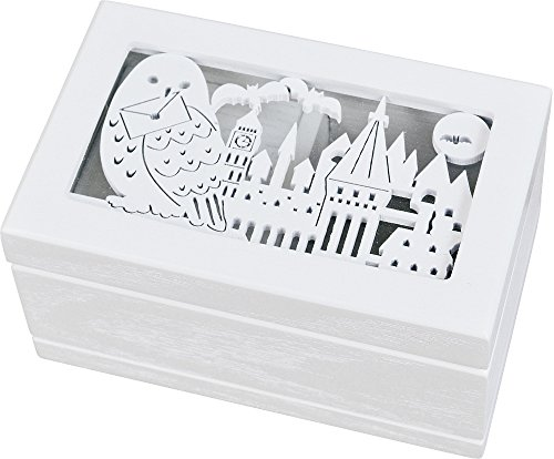 Gentieshokai Jewelry Music Box, Size : 4.72 x 2.95 x 2.36 Inch, White, Melody/Harry Potter