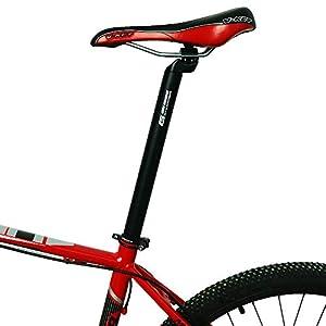 GANOPPER 31.6 mm 17.7 Pulgadas MTB Bicicleta de montaña Tija de sillín Larga 31.6 450 mm Fibra de Carbono Bicicletas de Carretera Cuesta Abajo DH FR Am XC Dirt Bici Asiento del Asiento (31.6 * 450mm)