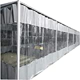 AWSAD Lona Exterior Cortina Impermeable Panel Lateral de PVC Transparente Parabrisas Tienda Panel Lateral con Ojal for Exterior, Jardín, Pérgola, Terraza (Color : Gray, Size : 4x2.5m)