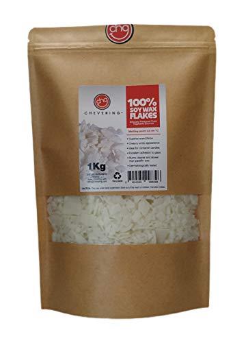 Chevering | 100 % natürliches Sojawachs (1 kg) Schuppen - Weiß